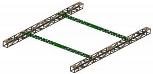 Konstruktion eines Hexa-Rahmens