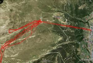 Google Earth Ansicht des Giggijochs