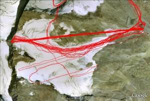 Google Earth Ansicht Tiefenbachgletscher